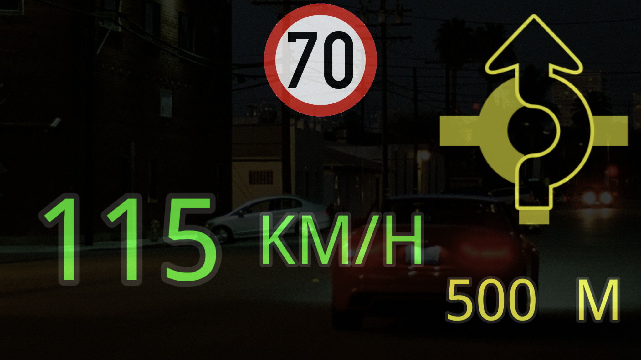 How to use Magic Earth with Head-up Display (HUD)